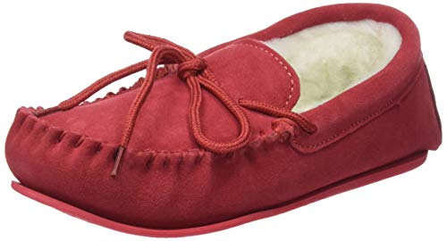 48cbabf3a SNUGRUGS Women's Clara Low-Top Moccasin Slippers, Red (Crimson), 5 UK