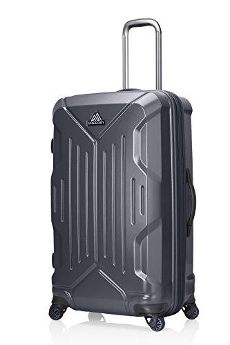 Schwarz Hardside Gepäck (Gregory Mountain Produkte Quadro Koffer 76,2cm Roller | Reisen, Business | Langlebig Hardside Gepäck, ausziehbarem Griff, multidirektionales Spinner Rollen System, Unisex, Slate Black, 30 Liter)