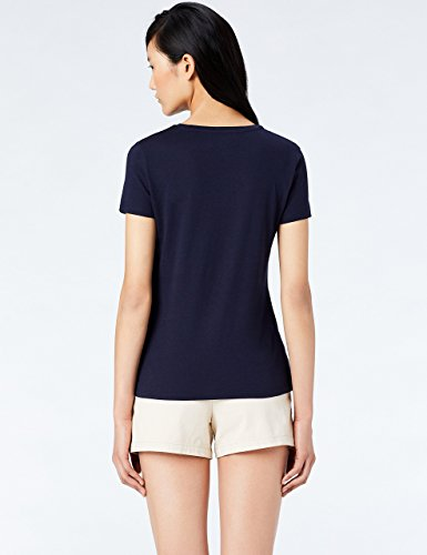 MERAKI Shirt Damen mit Rundhals Blau (Night Sky/White)