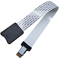Kentop Micro SD auf TF Karten Verlängerung Kabel Adapter Flexible Extender für Auto GPS