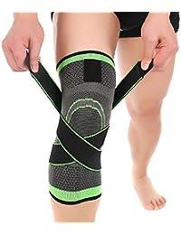 c6df106e9ed4 Knee Support - 3D Weben Sport Druck Knie Knieschützer, Injury Druck Protect  (Size