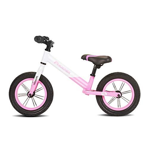 Klappräder Kinder-Balancer Roller Jungen Und Mädchen Ohne Fußstapfen Trainingsbalance Kindergeschenke (Color : Pink, Size : 12 inch)