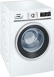 Siemens iQ700 WM14W5FCB Waschmaschine / 9,00 kg / A+++ / 152 kWh / 1.400 U/min / FC Bayern Meisterwascher / Nachlegefunktion / aquaStop mit lebenslanger Garantie