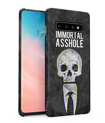 Hülle Hardcase Kompatibel mit Samsung Galaxy S10 Plus Immortal Asshole Schädel Skelett Tod Gotisch Realistic Human Skull Grunge Skeleton Gothic Quote Depression eng Anliegendes Dünnes Handyhülle