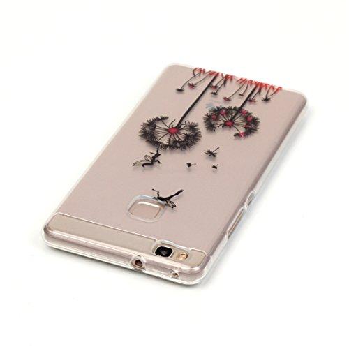 ANNN® Huawei Y625 Silicone Case TPU Cover - Etui de Protection Cas en caoutchouc en Ultra Slim Souple Gel TPU Bumper Cas Case + Quill stylet + Pendentif poisson---A12 A11