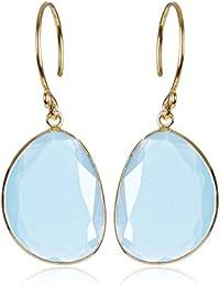 7fb2f1149f61 Amazon.es  Azul marino - Plata   Pendientes   Mujer  Joyería