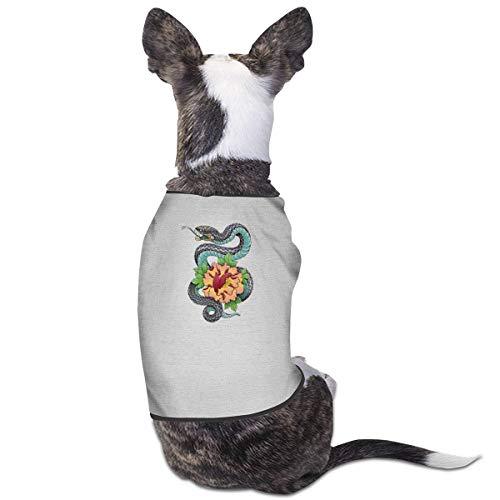 Jiaojiaozhe Top Snake Pet Service Pet Clothing Funny Dog Cat Costume Tshirt Gray (Cat Snake Kostüm)