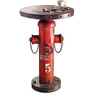 """Tavolino """"Fireplug Hydrant"""", stile industriale, metallo/legno, alto ca. 79 cm"""