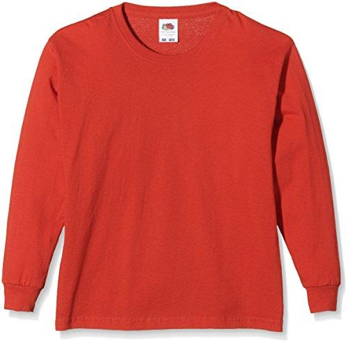 Fruit of the Loom SS019B, Camiseta Infantil, Rosso Medium (7-8 años)