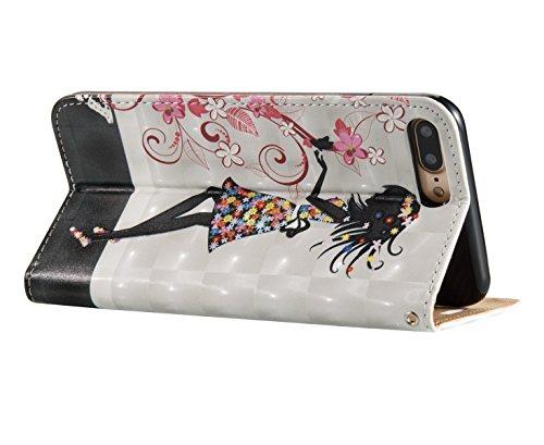 Ukayfe Custodia per iPhone 7/8 plus in Pelle PU, iPhone 7/8 plus Modello Bumper Slim Folio Protettivo Lussuosa 3D Lustro Impermeabile Custodia Casa Cover [PU Leather] [Shock-Absorption] Protettiva Por Mujer