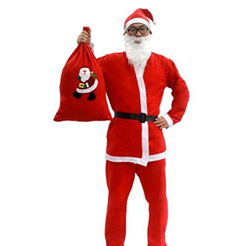 Zhhlinyuan Weihnachtsdekor Men's Father Onesize Pleuche Santa Claus -