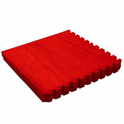 Matelas de protection de sol »PuzzleUp« de #DoYourFitness / idéal pour amateurs professionnels l'aérobic le pilates la gymnastique la musculation du dos du ventre et la préparation à l'accouchement /  rouge