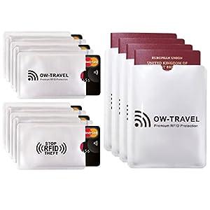 Custodie Blocco RFID - ANTI FRODE - La Protezione di Carte di Credito/Debito e di Identità per Portafogli Passaporto… 8 spesavip