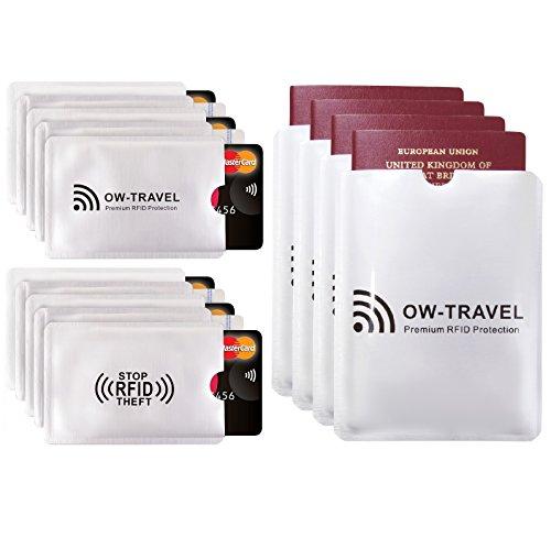 ✅ Protecteur de Carte Porte-Monnaie Anti-RFID Anti-FRAUDE - Protection de la Sécurité Paiement Contact Carte d'Identité Carte Bleue Permis de Conduire + Protection de Passeport - Restez protégé