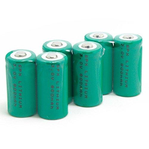SUPEREX® 800mAh 3V CR123A 16340 wiederaufladbare aufladbare Lithium Li-ion Akku Batterie für Taschenlampe Photobatterien Digital Kamera Camcorder - 6er Pack