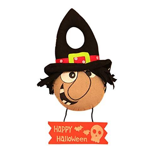 (Masterein Halloween Festival Dekorative Tür Puppe Aufhänger Anhänger für Hotel KTV Shooping Mall-Kostüm-Party)
