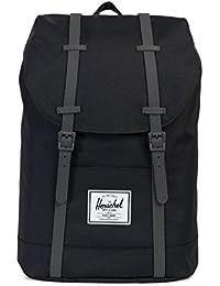 Herschel Retreat Backpack Rucksack 43 cm, black/charcoal debossed rubber