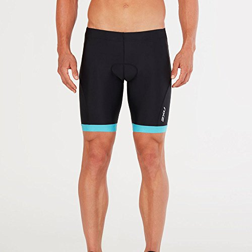 2 x u Herren Active Triathlon Shorts L Black/Dresden Blue