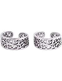 bc7307c11 Silvertree925 Fashionable Floral Toe Rings in Pure Sterling Silver for  Girls   Women(ST727)