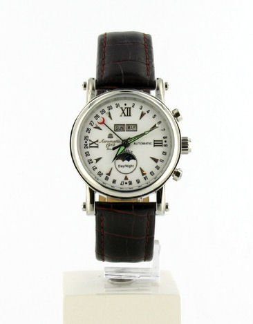 Aeromatic 1912 Aeromatic A1091 - Reloj de pulsera hombre, piel, color marrón