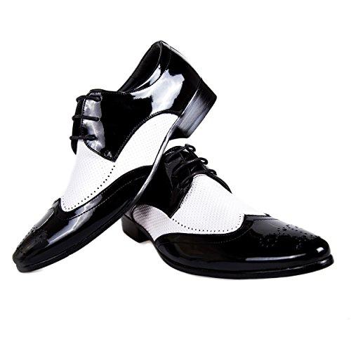 Robelli , Herren Schnürhalbschuhe schwarz schwarz 001