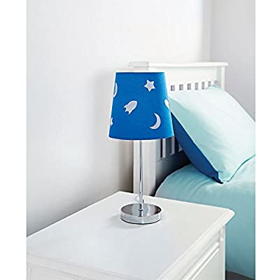 Hot Pink Butterfly Lamp And Blue Stars ,Moon & Space