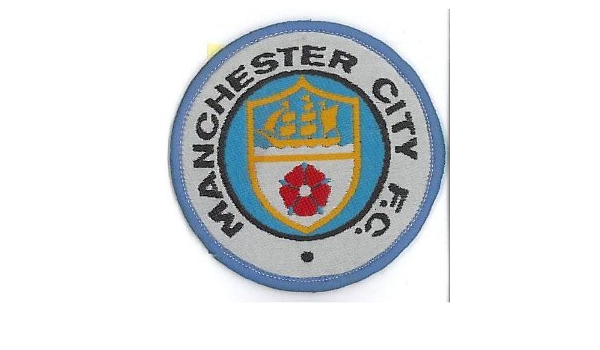 Man City Fc Crest Iron On Patch 3 7 5cm Embroidered Manchester City Maine Road Stadium Football Badge Mancini Tevez Silva Kompany Aguero Milner Toure Free Shipping Amazon Co Uk Sports