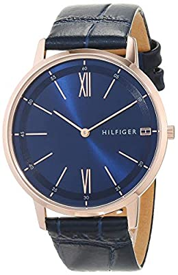 Tommy Hilfiger Reloj Analógico para Hombre de Cuarzo con Correa en Cuero 1791515
