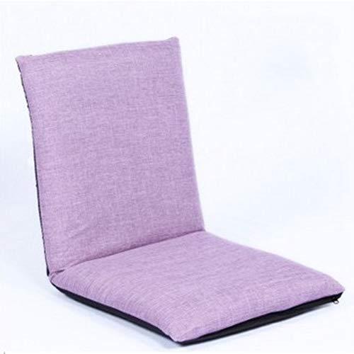 GGYDD Japaner Falten Fußboden Stuhl,verstellbar Matte Stuhl Sitzpolster Faul Sofa Futon Beinlose Rückenlehne Bay-Fenster Stuhl-a 41x39x41cm(16x15x16) (Futon Sofa Und Stühlen)