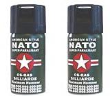 2 Stück CS GAS NATO Tränengas 40ml Abwehrspray CS-GAS