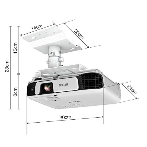 41uQaUZxziL. SS500  - Epson EB-S41 3LCD, 3300 Lumens, 300 Inch Display, SVGA Projector - White