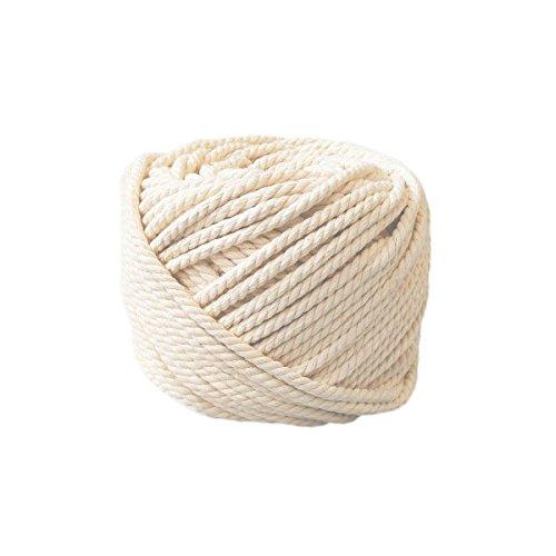337b2a2450cb HuBei Decoración hecha a mano de algodón natural Bohemia macramé DIY pared  colgador de planta manualidades de tejer cuerda de color beige natural, ...