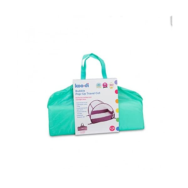 Koo-di Pop Up Bubble Cot  A comfortable cot ideal for use at home and on holidays or weekends away Made from polycot on Ideal from 6-18 months and when outgrown, makes an ideal playhouse for little ones 3
