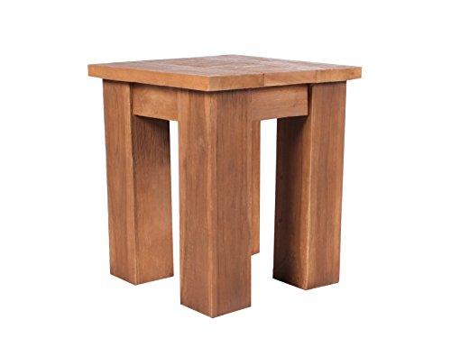 Ambientehome teak legno sgabello tavolino retro riciclato