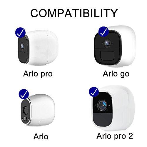 SupTig Sicherheit Wandhalterung Halterung verstellbar Mount Outdoor Indoor für Arlo Pro Arlo Kamera Arlo Go Arlo Pro 2(2Pack, weiß und schwarz)