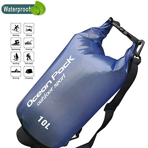 DIMOJING Dry Bag, wasserdicht Taschen mit Handytasche und Gurte für Boot und Kajak, Angeln, Rafting, Schwimmen, Camping und Snowboarden, 2L/5L/10L/15L/20L,Blue,5L