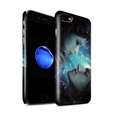 Officiel Elena Dudina Coque / Clipser Brillant Etui pour Apple iPhone 8 / Pack 7pcs Design / Art Amour Collection Verre brisé