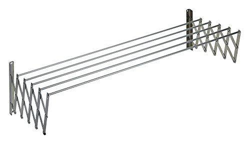 Wurko Tendedero Extensible, Metal, Gris, 80 cm