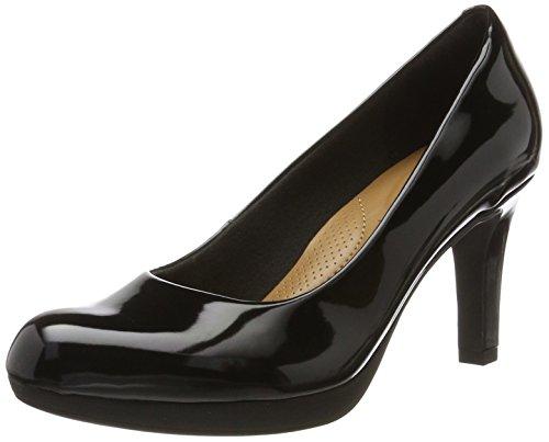 Clarks Adriel Viola, Zapatos Tacón Mujer, Negro Black