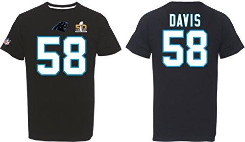 Majestic Athletic Carolina Panthers Davis Super Bowl T-Shirt schwarz L