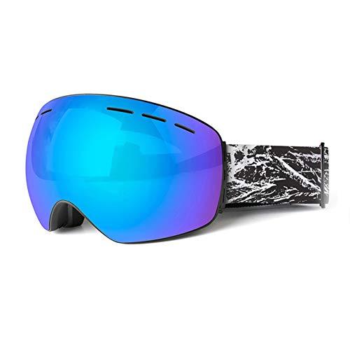 KnBoB Skibrille Polarisiert Motorradbrillen Band Sportsonnenbrille Herren Polarisiert Blau Schwarz