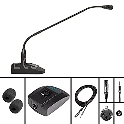 WordSentry Professional Gooseneck 3.5 mm Conference Uni-Directional Cardioid Microphone with Anti-slip base and Adjustable Heavy Duty Metal Design
