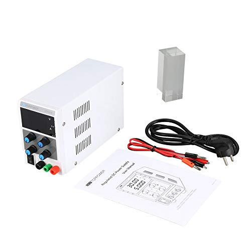 HermosaUKnight 10A 30V DC-geregelte Stromversorgung Einstellbare LED-Anzeige - 10a Power Supply Box