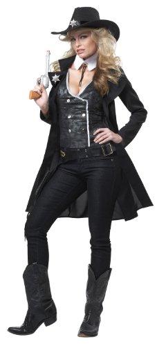 Cowgirl Kostüm für Damen schwarz XL (44/46) ()