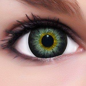 Linsenfinder Lenzera Circle Lenses schwarze 'Sexy Black' ohne und mit Stärke + Kombilösung + Behälter Big Eyes farbige Kontaktlinsen