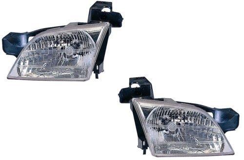 1997-2004(1998199920002001200220039798990001020304) Oldsmobile Silhouette montaggio per-Un Paio (entrambi i lati conducente e del passeggero) a pois, certificata Fari da