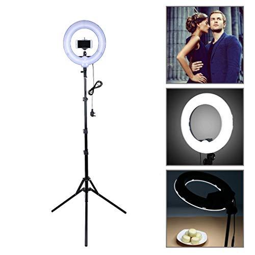 LED Ringlicht Kit, 14 Zoll/35cm Außen 40W 5500K LED ringleuchte mit 180cm Licht Stand für Live-Übertragung,YouTube Video Shooting,Selfie und Makeup - Alten Make-up