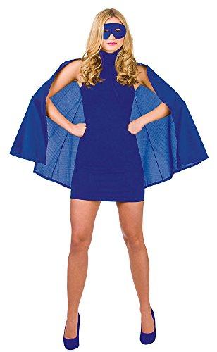 mask Blue Superhero Fancy Dress Wonder Woman Costume (Fantastic 4 Kostüm)