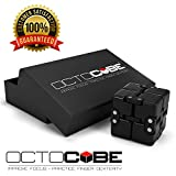 OCTOCUBE Infinito de Lujo Fidget Cubo - Infinito Rompecabezas 3D Premium | Alivio del estrés, la ansiedad, reducción de la presión Negro