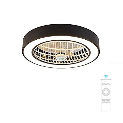 JY.YN ventilador de techo luz de techo creativo techo de luz LED ventilador de techo regulable con iluminación...
